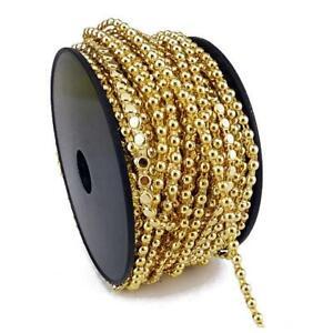 Buddly Crafts 3mm Flatback Pearl String 2m