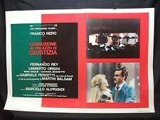 FOTOBUSTA CINEMA - CORRUZIONE AL PALAZZO DI GIUSTIZIA - FRANCO NERO - 1975 - 06