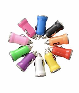 Lot Color Mini USB Car Charger Adapter for iPhone 7 6 5S 5 4S 4 LG Samsung HTC
