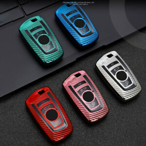 Carbon Fiber TPU Car Key Fob Case Cover Holder Shell For BMW 1 3 4 5 6 Series