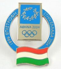 Athens Olympic Games 2004 Pin Badge - Official Country Flag By Trofe - Hungary