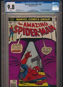 MARVEL COMICS AMAZING SPIDER-MAN #164 1977 CGC 9.8 WP NEWSSTAND KINGPIN APP
