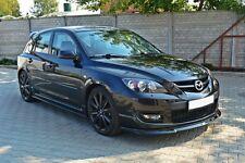 Cup Spoilerlippe schwarz Mazda 3 MPS Lippe Front Diffusor Ansatz schwert Splitte