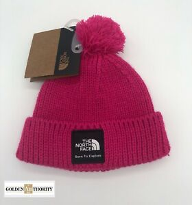 The North Face Baby Infant Box Logo Beanie Pink XXS 0-6 Months