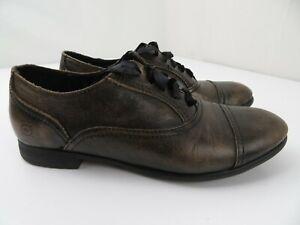 Born Leather Cap Toe Oxfords Women's Shoes Size 9 M Brown D73817