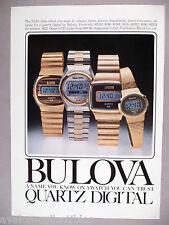Bulova Quartz Digital Watch PRINT AD - 1977 ~~ wristwatch