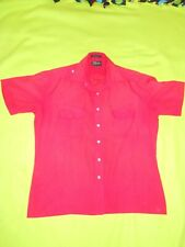 Mens SS red button front shirt  ~ SZ M 15 1/2)  ~   by Blair