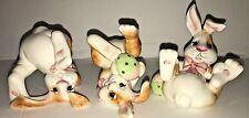 Fitz And Floyd Essential Eggscapades 3 Ceramic Bunnies