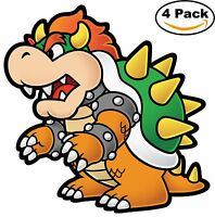Mario Brothers Paper Mario Luigi Bowser Vinyl Sticker Decal 4X4 14