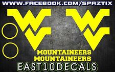 West Virginia Mountaineers WV Cornhole Decal sticker 6 pc Set package deal!