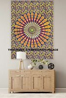 Indian Cotton Yoga Mat Poster Peacock Mandala Wall Hanging Table Cover Tapestry