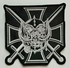 Motorhead Iron Cross Die-Cut  EMBROIDERED PATCH