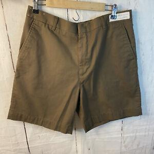 TWINHILL Men's Shorts SZ 1M Regular 36 Uniform Brown with Pockets