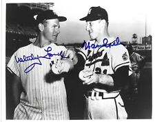 Whitey Ford and Warren Spahn Signed 8x10 Photo JSA Authenticated