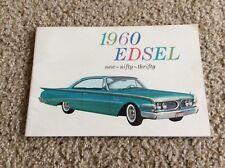 1960 Edsel  original dealership showroom  deluxe color sales catalogue