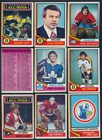 1974-75 Topps Hockey Complete Your Set cards #101-200 (see list) $0.99-$12.00