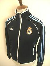 ADIDAS REAL MADRID FOOTBALL TRACKSUIT TOP SIZE LADIES 14-16 BLUE