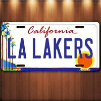 Los Angeles LA L A Lakers NBA Aluminum License Plate Tag New