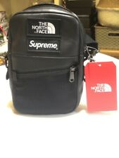 SUPREME X THE NORTH FACE LEATHER SHOULDER BAG BLACK 100% AUTHENTIC & BRAND NEW