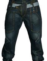 Mens unique Distressed Jeans Denim Trousers Straight cross hatch 003 cipo baxx