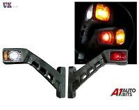 2x LED SIDE OUTLINE MARKER LIGHTS 12V/24V RED AMBER WHITE TRAILER LORRY TRUCK
