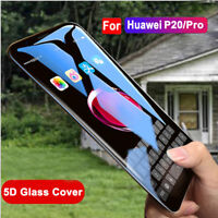 For Huawei P20 Pro/P20 Lite Screen Protector 5D Full Cover Tempered Glass Film