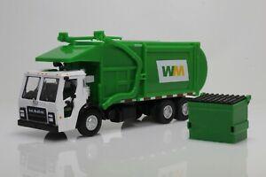 Mack LR Garbage Trash Truck & Dumpster Waste Management 1:64 Scale Diecast Model