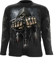 Spiral Direct GAME OVER Long sleeve T-Shirt Skull/Gothic/Biker/Horror/Metal/Tee
