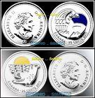 2x CANADA 2011 QUARTERS ORCA WHALE PARK & FALCON COLORIZED 25 CENT COIN LOT UNC