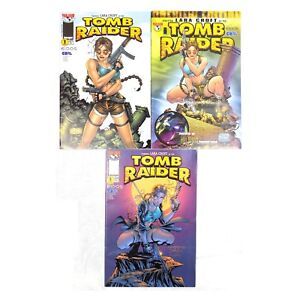Tomb Raider Comic Lot Of 3 Books Top Cow Preview Edition
