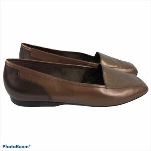Enzo Angiolini  Tri Color Copper Leather Liberty Loafers Women's Size 9M