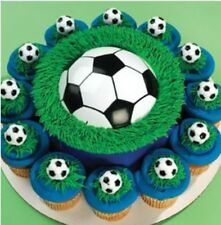 NEW SOCCER THEME POP TOP PLUS 12  CUPCAKE RINGS/FAVORS
