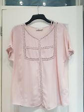 Per Una Baby Pink beaded Viscose Top With Matching Camisole Size 10