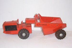 Vintage Nylint Tournarocker Toy Dump Truck RGE LeTourneau Orange