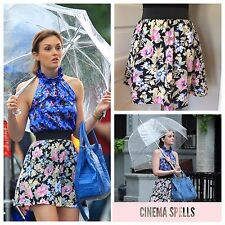 As Seen On Gossip Girl Blair Waldorf Women Floral A-Line Mini Skirt Sz M Medium