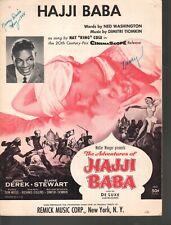 Hajji Baba 1954 Nat King Cole Sheet Music