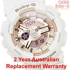 CASIO BABY-G ANALOG DIGITAL WATCH BA-110-7A1 ROSE GOLD BA110-7A1DR 2Y WARRANTY