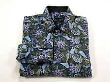Stone Rose M Colorful Floral Long Sleeve Men's Button Front Shirt Medium