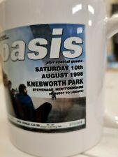 More details for oasis knebworth ticket 1996 mug liam noel gallagher bonehead guigsy cup / mug