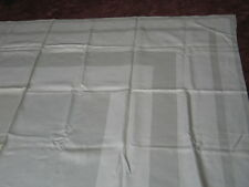 "Antique Irish Linen Damask Banquet Tablecloth~Monogram ""Bv""or""Vb"" Classic Stripe"