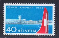 Switzerland 1953 MNH Mi 585 Sc 344 Opening of Zurich-Kloten airport ** plane