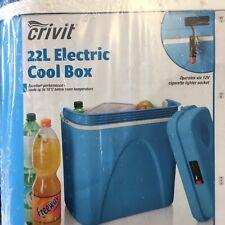 22 L Portable Coolbox Réfrigérateur Caravane Camping froid Col Glacière électrique 12 V
