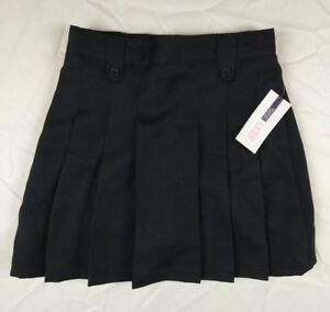 IZOD Girl's Pleat Skort Approved Schoolwear Navy Blue Size 10 Regular
