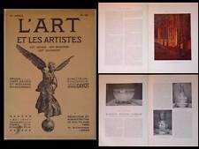 L'ART ET LES ARTISTES 1914 JOSEPH COMMUNAL, MAURICE MARINOT, TOULOUSE LAUTREC