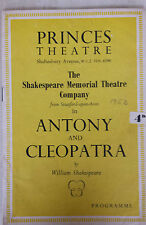 1953 Princes Theatre Michael Redgrave & Peggy Ashcroft in ANTHONY and CLEOPATRA