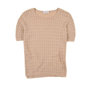Peter Hahn Damen Bluse Hemd Top Shirt Blouse Gr.40 Pullover Strick Beige, 71300