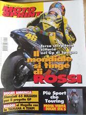 MOTOSPRINT n°19 2001 Gp Spagna Valentino Rossi - Test Ducati St4 S  [P71]