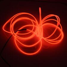LED Rot 3M EL Wire Lightup Kostüm Neon Party Geschenk Tanzende Kleidung Nacht DE