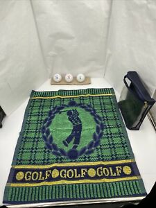 St. Andrews Golf Balls & Towel Gift Set. 3 Crest Logo Balls And 1 Golf Towel NEW