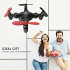 Quadcopter Foldable RC Drone for Kids Gift Portable Pocket with Altitude Hold 3D